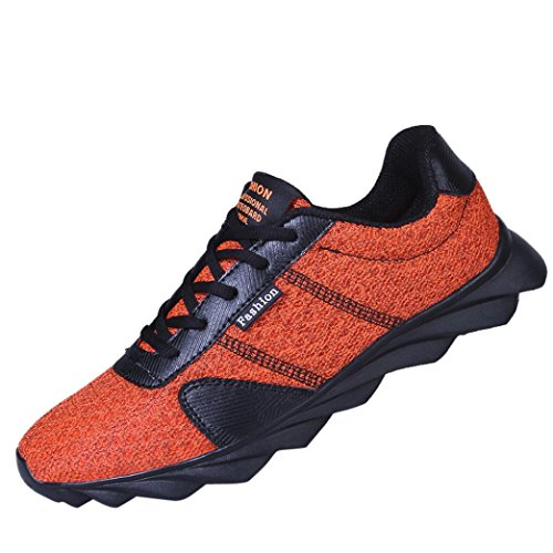 beautyjourney Scarpe Running estive Uomo Scarpe Uomo Sneakers Scarpe da Ginnastica Uomo Scarpe da Corsa Uomo Sportive Scarpe da Lavoro Uomo - Uomo Sneakers Scarpe da Corsa Arancia