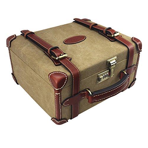 Tourbon Canvas & Leather Ammo Storage Case Lockable Ammunition Box by Tourbon