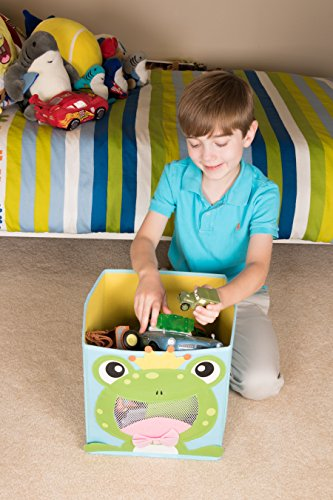 Clever Creations Cute Smiling Frog Collapsible Toy Storage Organizer Toy Box Folding Storage Cube Kids Bedroom | Perfect Size Storage Cube Books, Kids Toys, Baby Toys, Baby Clothes by Clever Creations (Image #6)