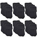 BCP 24pcs Knitting Wool Furniture Socks/ Chair Leg Floor Protector (Black Color)