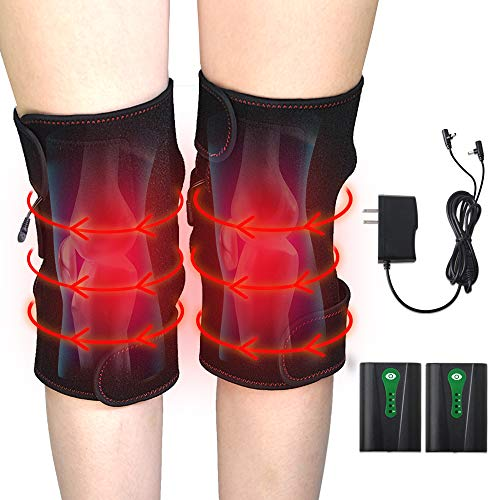 Heated Knee Pads,Refial Heated Knee Compression Sleeve, Battery-Attached Bundled Hook & Loop Insulation Knee Wrap, Fit for Home Thermal Care, Outdoor Sports