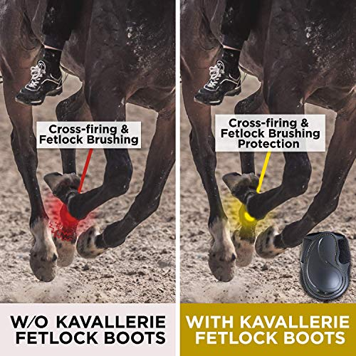 Kavallerie Classic Fetlock Boots, Impact-Absorbing and Air-Perforated Material, Durable & Evenly Distributes Pressure, Fetlock Injury Protection, Non- Slip with Soft Lining Show Jumping Boots by Kavallerie (Image #5)