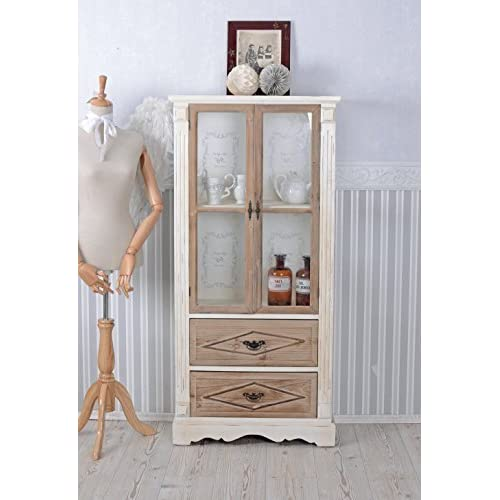 Showcase Shabby Chic Glass Cabinet Wooden Showcase Vintage Antique Palazzo  Exclusive