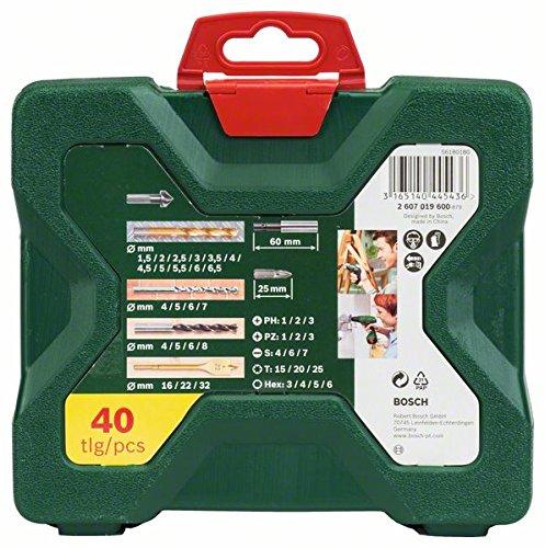 Bosch X-Line Titanio - Maletín de 40 unidades para taladrar y atornillar: Amazon.es: Bricolaje y herramientas