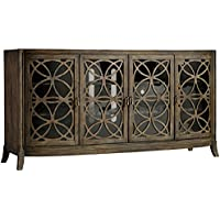 Hooker Furniture Melange 4-Door Sloan Console Table in Rustic Alder