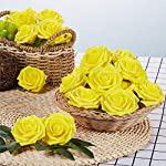 NT-NIETING-Roses-Artificial-Flowers-25pcs-Real-Touch-Artificial-Foam-Roses-Decoration-DIY-for-Wedding-Bridesmaid-Bridal-Bouquets-Centerpieces-Party-Decoration-Home-Display-Yellow