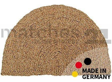 Fußmatte Fußabstreifer Kokos Wendematte Uni einfarbig natur halbrund Kokosmatte 50x80x2,5cm