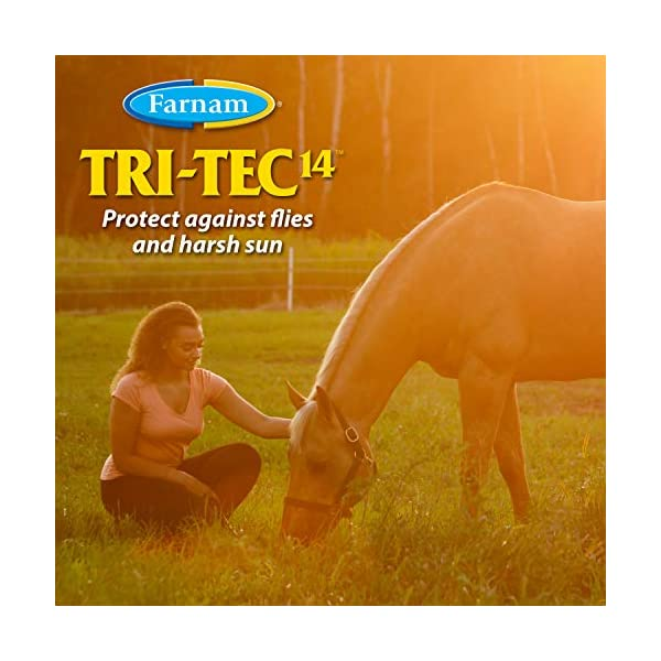 Farnam Tri-Tec 14 Fly Repellent Spray for Horses with Sunscreen 2