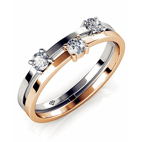 8ee80bc1793b6 FAPPAC Bar Ring Bands Enriched with Swarovski Crystals - Buy Online ...