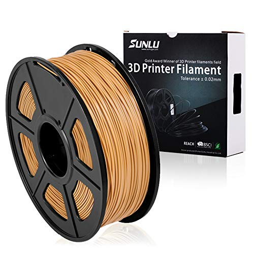 SUNLU PLA Plus 3D Printer Filament - 1KG(335m/1099ft) 1.75mm, Dimensional Accuracy +/- 0.02 mm, 1KG(2.2LBS) Spool 1.75 mm, Coffic (More Like Brown)