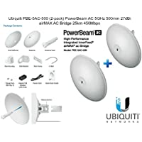 Ubiquiti PBE-5AC-500 PowerBeam AC 25km 5GHz  27dBi airMAX AC Bridge, 2- Pack