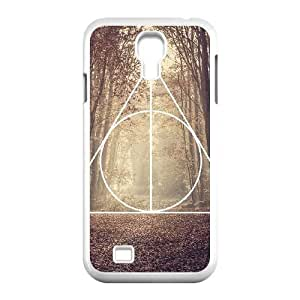 Samsung Galaxy S4 I9500 Phone Cases White Deathly Hallows MN3380902