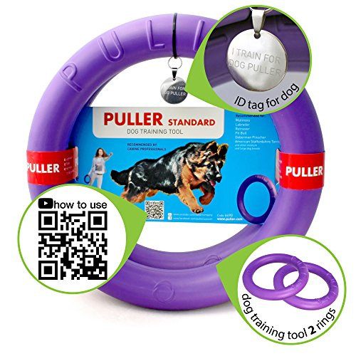 Kind with Healthy Dog Toys Double Training Rings Rubber Durable Floating Sport Rings, Teething Cleaner, Dental Healthy for Outdoor Games, Throwing, Catching; Great for Medium & Large Breeds Dog