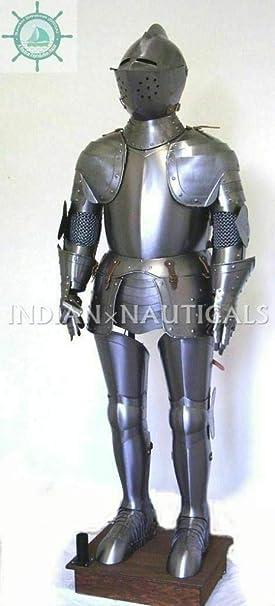 Amazon.com: Traje de caballero antiguo medieval de cuerpo ...