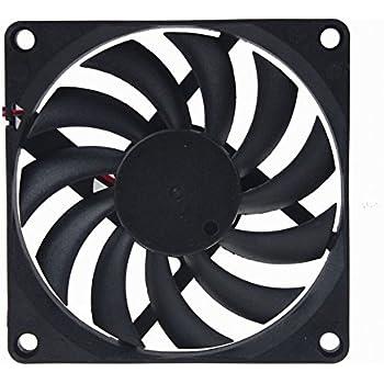 GDSTIME Radiator 80mm x 80mm x 10mm 12V Brushless DC Cooling Fan