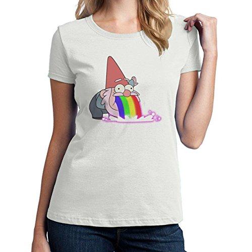 Sweet Gnome Puke Rainbow Funny Design Damen T-Shirt