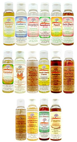 Price comparison product image GIFT PACK -ANY 5 UNSWEETENED NATURAL FLAVORS -by Flavor Essence (Customize your flavor choices and gift message during the purchase and checkout)