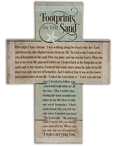 Abbey Gift Footprints Cross with -