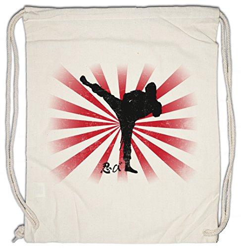 NINJA II Drawstring Bag Gym Sack Samurai Warrior Way of Sepuku Banzai Japan Japanese