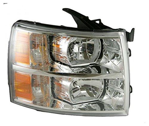 Headlight Headlamp Passenger Right RH for 07-14 Chevy Silverado Pickup (Chevy Truck Headlight Lamp)
