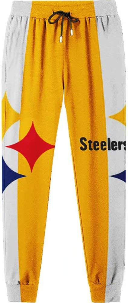 Pittsburgh Steelers Team Logo Printed Comfy Sweatpants Soft Comfortable Casual Pants Loose Fit S-5XL Jogger Long Pants for Men Women