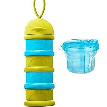 Blau Milchpulver Portionierer Baby Milk Powder Formel Dispenser 3 Abteil Milchpulver Lagerung Beh/älter
