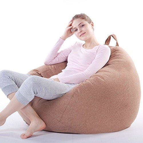 深く座るクッション 癒されるソファー 体が吸い付いてリラクスできる どんな座り方でもくつろぐ (ブラウン) B07B65H4VY ブラウン ブラウン