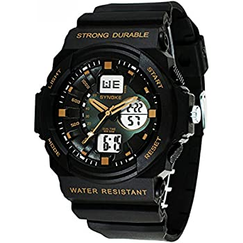 Amazon.com: Cool Waterproof Digital Analog Sports Watches ...