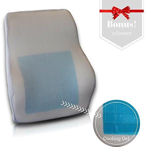 Fantastic Deal! AirGo Products Cooling Gel Memory Foam Lumbar Cushion