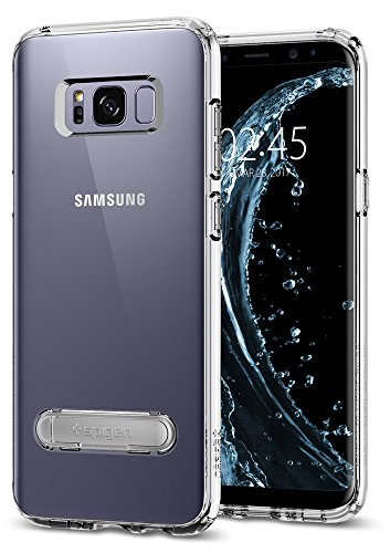 Spigen Ultra Hybrid S Galaxy S8 Plus Case with Air Cushion Technology and Magnetic Metal Kickstand for Galaxy S8 Plus (2017) - Crystal Clear
