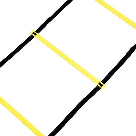 MAGT Escalera de Entrenamiento de fútbol, balón de fútbol 4m Flexibilidad de fútbol Entrenamiento de Velocidad Escalera de Salto de Fitness con Bolsa de Almacenamiento: Amazon.es: Hogar