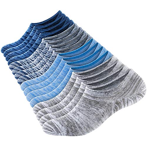 No Show Socks Men Socks Low Cut Ankle Men Sock (8 Pairs) Casual Cotton Non-Slip Athletic Loafers Invisible Sock, Size 6-10