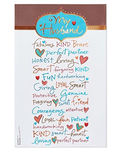 abulous Kind Brave Birthday Card for Husband with Foil (Fabulous Birthday Card)