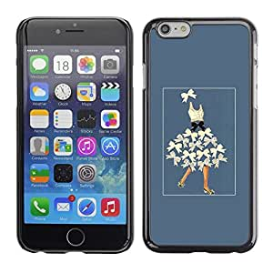"Pulsar Snap-on Series Teléfono Carcasa Funda Case Caso para Apple Iphone 6 Plus / 6S Plus ( 5.5 ) , Señora Bowtie Moda arco azul del corsé"""