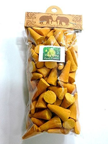 Thai Incense Cones 100 Coins Ylang Ylang Fragrances Relax Aroma Twin Elephant Brand High -