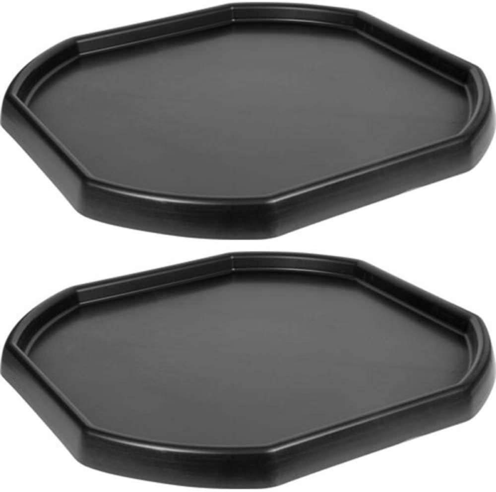 KetoPlastics Pack Of 2 Large Black Plastic Builders Building Material Children Kids Play Mixing Tray Spot for Cement Mortar Sand Plastering Toy Fun Game School Play Time MIXING TRAY