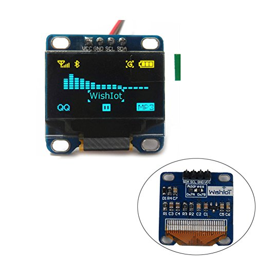 """Price comparison product image 0.96"""" Inch Yellow Blue I2c IIC Serial Oled LCD Screen LED Display Module 12864 128X64 for Arduino Raspberry Pi Stim32 SCR WIshioT"""