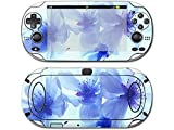 Blue Flowers skin for psp vita 1000 console
