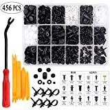 Uolor 456 Pcs Car Retainer Clips & Plastic Fasteners Kit with Fastener Remover, 19 Most Popular Sizes Auto Push Pin Rivets Set, Bumper Door Trim Panel Clips Assortment for GM Ford Toyota Honda Chrysle