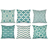 Pillow Case, pack of 6 NXDA Geometry Striation Flax Blend Throw...