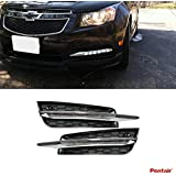 Pentair 2pcs Aftermarket Mercedes W204 C-Class Style LED Fog Lights (Daytime Running Lights) Kit With Wiring Harness For 2009-2014 Chevy Cruze