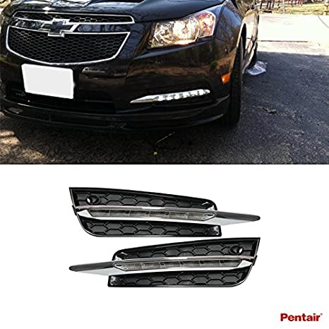 amazon com pentair 2pcs aftermarket mercedes w204 c class style led 1972 Chevy Truck Wiring Harness amazon com pentair 2pcs aftermarket mercedes w204 c class style led fog lights (daytime running lights) kit with wiring harness for 2009 2014 chevy cruze