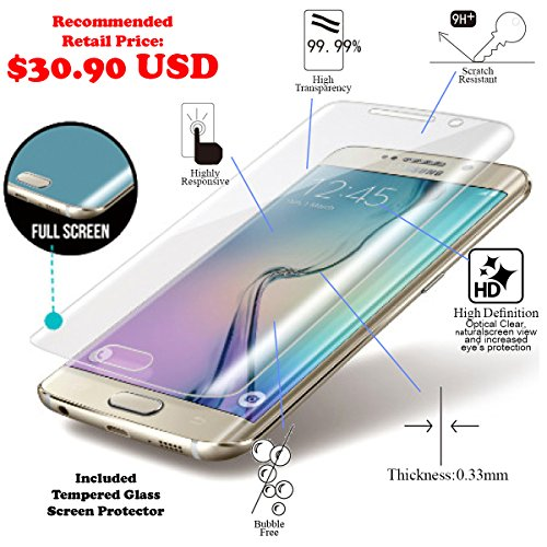 Samsung Galaxy S6 Edge [5.1] Pack [Slim Aluminum] Case + [Tempered Glass] Screen Protector [Dual Layer] Cover [Shock Resistant] Alloy Brushed [Absorbent Bumper] PVC [INO Metal] Skin [Motomo] Gray by MyNovation (Image #3)