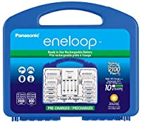 Panasonic Advanced Individual Cell Battery Charger with eneloop AA New 2100 Cycle Rechargeable Batteries