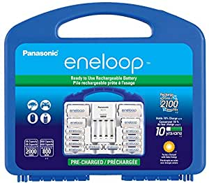 Panasonic KJ17MCC82A Eneloop Power Pack for 8AA, 2AAA, 2 C Spacers, 2 D Spacers, Advanced Individual Battery Charger