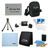 Special Loaded Value NB-5L Battery Kit for Canon S100,S110, SX230 & SX210 - Includes Premium Tech PT-NB5l 1200mah Battery Pack, Carrying Case, USB 2.0 Card Reader, Mini Tripod, 3 Card Memory Card Wallet, Cleaning Cloth, Screen Protectors, and Cleaning Kit