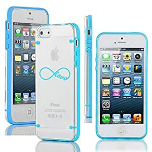"Apple iPhone 6 (4.7"") Ultra Thin Transparent Clear Hard TPU Case Cover Infinity Love (Light Blue)"