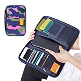 Waterproof Camo Travel Passport Tickets Cards Holder Organizer Wallet Clutch