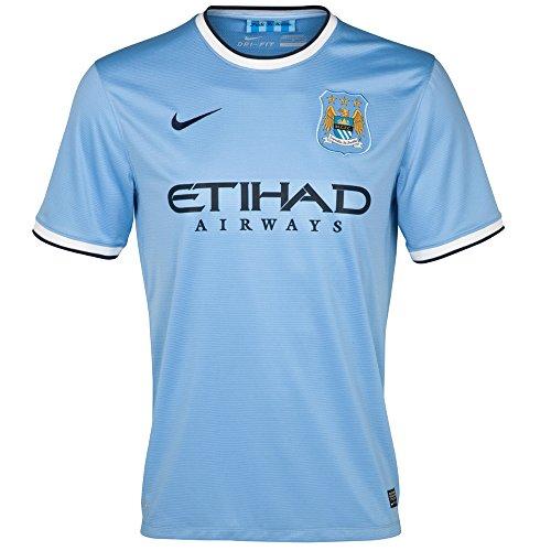(Nike Manchester City Home Soccer Stadium Jersey 2013-14 (Medium))