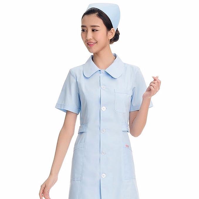 Xuanku Una Enfermera Rosa De Manga Corta Uniformes De Verano Belleza Enfermera Cuidado De La Ropa La Farmacia: Amazon.es: Ropa y accesorios